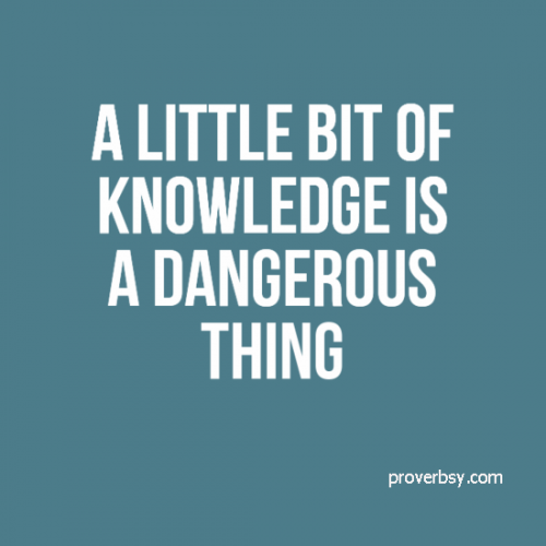 Little knowledge is a dangerous thing in forex