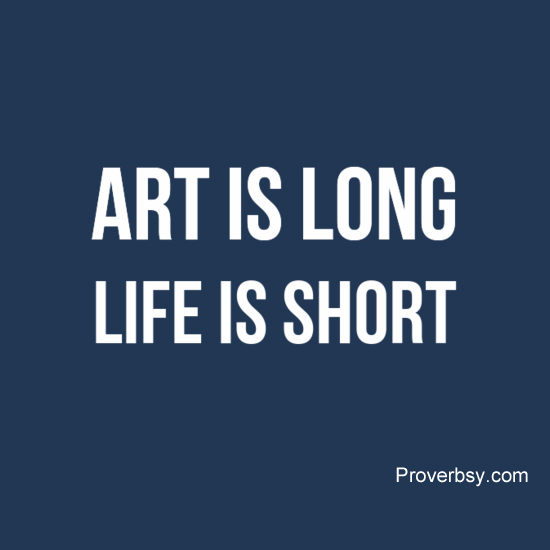 art is long life is short essay
