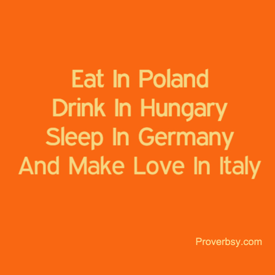 Eat In Poland Proverbsyproverbsy
