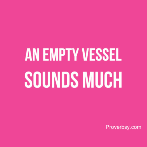 Why empty life doesn't makes much noise?